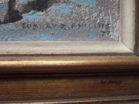 "Aubrey R Phillips RWA (1920-2005):  Oil On Board Landscape ""Winter at Malvern"" (3 of 5)"