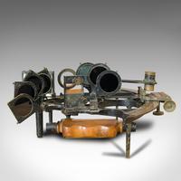 Antique Maritime Sextant, Brass, Admiralty, Naval, Instrument, Victorian c.1900 (3 of 12)