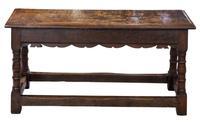 19th Century Long Oak Joint Stool (4 of 6)