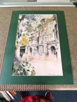 Massive Modern British Watercolour- Fred Marshally ? London Street Scene (5 of 7)
