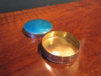 George V Silver & Turquoise Enamel Box (3 of 5)