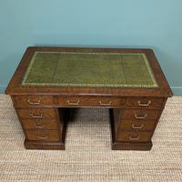Quality Oak Victorian Antique Pedestal Desk (4 of 8)