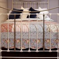 Decorative Victorian Antique Bed in Cream (4 of 6)