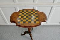 19th Century Inlaid Burr Walnut, Games Table (5 of 9)