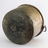 Large Age Patinated Brass Log Bin with Iron Swing Handle C1875 (9 of 9)