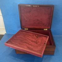 William IV Rosewood Jewellery Box with Mother of Pearl Inlay (11 of 12)