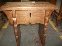 Solid Elm Church Stool (2 of 3)