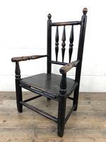 Antique 19th Century Provincial Oak Child's Chair (7 of 8)