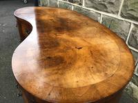 Antique Burr Walnut Kidney Shaped Dressing Table (8 of 12)
