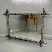 Pair of Two Tone Grey Bamboo Mirrors (2 of 7)
