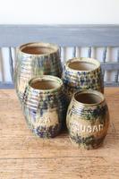 Scottish Pottery Slipware Barrel Storage Jars x4 (21 of 35)