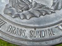 Large' Victorian Style' 3 Cherubs Stone Sundial Fairy Brass Top Timepiece (7 of 29)