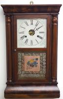Antique American Ogee Wall Clock – Weight Driven Wall / Mantel Clock (3 of 12)