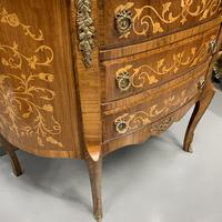 French Marquetry Demi Lune Commode (6 of 7)