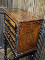 Walnut Collectors Cabinet on Stand (4 of 9)
