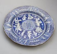 Rare Staffordshire Pearlware Herculaneum Greek Pattern Transferware Plate 1815 (3 of 4)