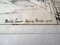 Hanslip Fletcher Original Pen & Ink Drawing & another Lithograph- London Scene 1928 (4 of 9)