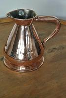 Antique Copper Pint Haystack Measure Castellated Seam Later GR Duty Mark (7 of 11)