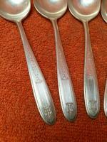 Antique Silver Plate Epns Art Deco Soup Spoons c.1920 (2 of 7)