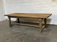 Rare Large & Deep Oak Farmhouse Dining Table (2 of 31)