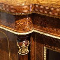 Fine Victorian Inlaid Walnut Credenza (4 of 15)