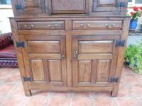Country Oak Court Cupboard 1734 Carved Initials RTK (11 of 14)
