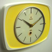 Rare Kitch Ceramic Pot Clock – Junghans 1940s Kitchen Wall Clock (4 of 6)