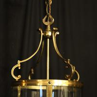 French Pair Convex Triple Light Antique Lanterns (7 of 9)