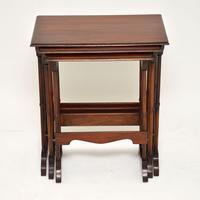 Antique Mahogany Nest of Three Tables (2 of 9)