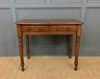 Victorian Mahogany 2 Drawer Side Table (3 of 12)