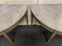 Pair of Georgian Painted Demi Lune Console Tables (8 of 22)