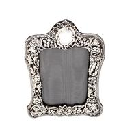 """Antique Victorian Sterling Silver 8"""" Photo Frame   1899 (3 of 10)"""