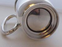 1933 Hallmarked Solid Silver 1/2 Half Pint Tankard Christening Mug E Viner (4 of 8)