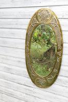 Arts & Crafts Movement Scottish / Glasgow School Large Oval Wall Mirror c.1900 (2 of 28)