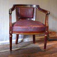 Pair of French Directoire Leather Armchairs (11 of 16)