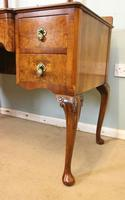 Antique Burr Walnut, Triple Mirror Shaped Dressing Table (4 of 12)