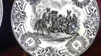 Napolean Bonaparte Interest, Pair of Transfer Printed Antique Pottery Plates (4 of 4)