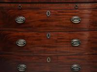 Early 19th Century Mahogany Bowfront Chest with Slide (11 of 12)
