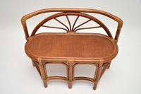 Vintage 1970's Bamboo & Rattan Games Table & Chairs (11 of 12)