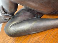 Art Deco Style Nubile African Tribal Bronze Nude Lady Statue Sculpture (25 of 28)