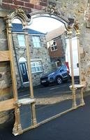 Large Impressive 19th Century Gilt Overmantle Mirror by C Nossotti (2 of 16)