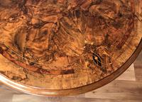 Victorian Burr Walnut & Marquetry Occasional Table (10 of 10)