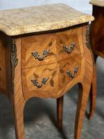 Quality Pair of French Marquetry Bedside Drawers (12 of 22)