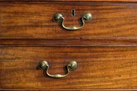 18th Century Mahogany Chest of Drawers with Quarter Column Corners (3 of 5)