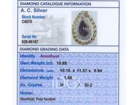 10.88ct Amethyst & 1.88ct Diamond, 18ct Yellow Gold Pendant - Antique c.1900 (7 of 9)