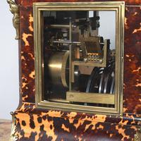 Tortoiseshell & Ormolu Mantel Clock (6 of 9)