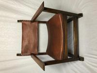Fine Vintage Early 20th Century Original Adolf Loos Vienna Fireside Leather Armchair Secessionist Oak (4 of 46)