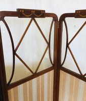 Edwardian Inlaid Mahogany Screen (6 of 13)