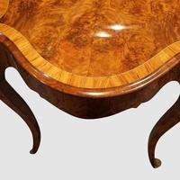 Victorian Inlaid Walnut Centre Table with Drawer (2 of 9)