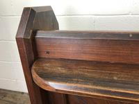 Antique Pitch Pine Church Pew with Enamel Number 27 (7 of 13)